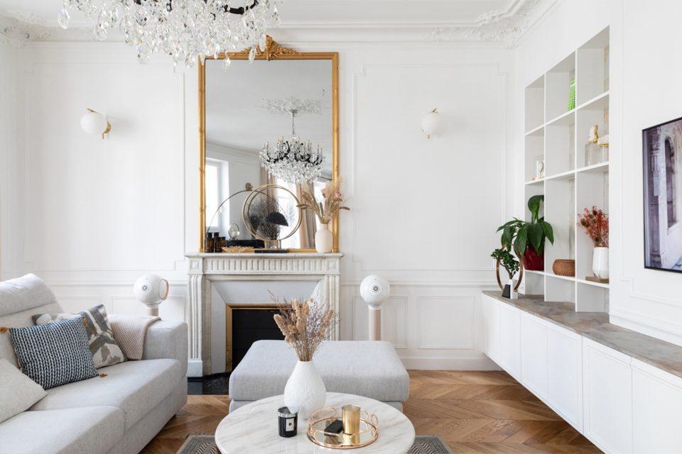 Feuille de pierre 100% naturelle StoneLeaf modèle Stockholm sur un meuble