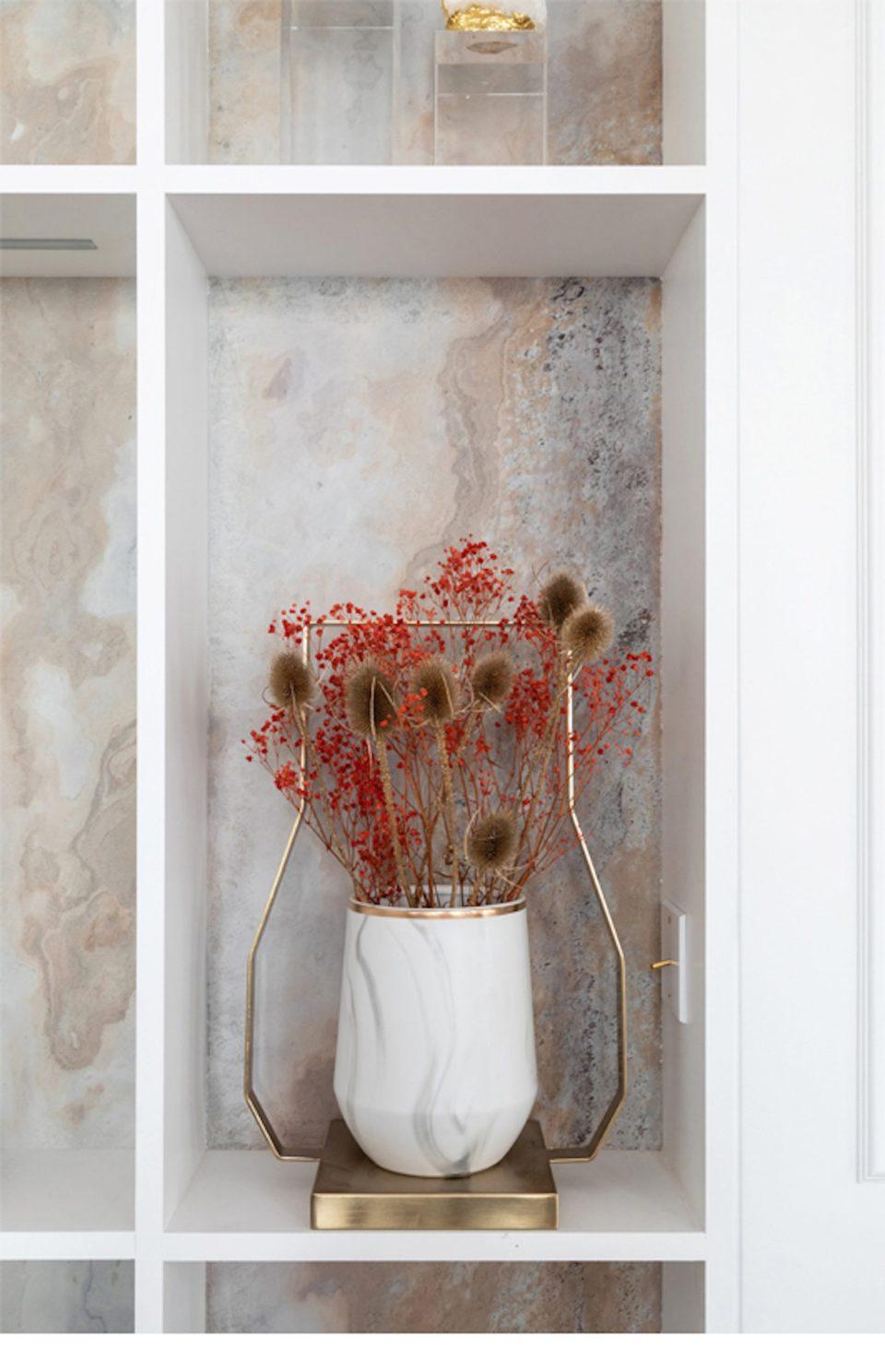 Feuille de pierre 100% naturelle StoneLeaf modèle Stockholm sur mur