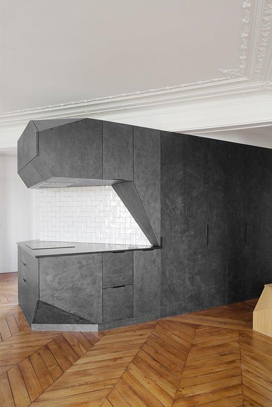 Feuille de pierre 100% naturelle StoneLeaf modèle Londres dans une cuisine