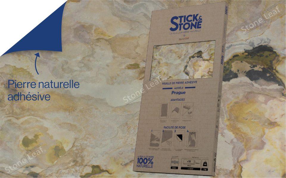 Feuille de pierre 100% naturelle Prague packaging