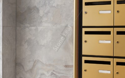 How to decorate the common areas with the stone sheet